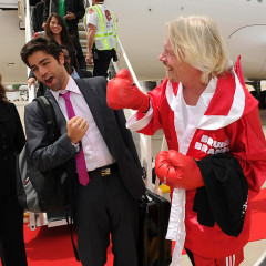 Photo Of The Day: Virgin Launches L.A. To Chicago Flights And Richard Branson Is On Another Level