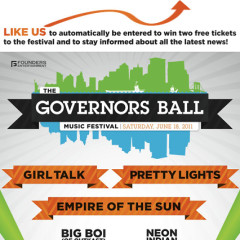 Today's Twitter Giveaway: Four VIP Passes to the Governor's Ball Music Festival (Value: $600)!