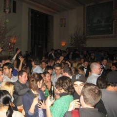 NYC James Beard Award Winners, Daniel Boulud Celebrates With Champagne On Top Of The Bar