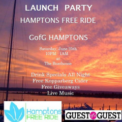 Win 2 VIP Tickets To Hamptons Free Ride And GofG Summer Launch Party!