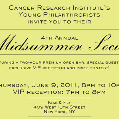 Today's Newsletter Giveaway: Two Tickets to the Cancer Research Institutes Midsummer Social ($100 Value)!