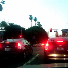 Summer Photo Of The Day: Prius Twins At Sunset & Highland