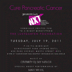 Today's Newsletter Giveaway: Two Tickets to the GenerationNXT Cure Pancreatic Cancer Benefit ($300 Value)!