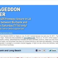JetBlue Offers $4 Flights Between Burbank & Long Beach For Carmageddon Weekend