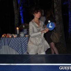 Susan Sarandon Shows Off Her Ping Pong Skills At The Grey Goose Blue Door Presents SPiN Ping Pong Tournament