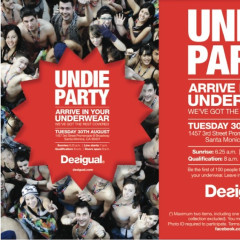 Show Up In Your Undies, Get Free Clothes At The Desigual Undie Party Tomorrow!