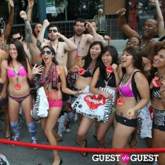 Angelenos Get Naked In Public For The Desigual Undie Party In Santa Monica
