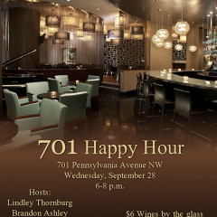 You're Invited: 701 Happy Hour On Wednesday