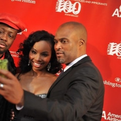 Cynne Simpson, Chris Spencer, And Wyclef Jean At US Committee For Refugees And Immigrants 100th Anniversary Gala