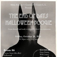 We're Having A Party. An End Of Days Halloween Boogie.