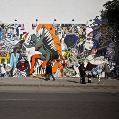New Faile Mural On Houston And Bowery