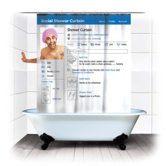 The Best Guests Come Bearing Gifts: Social Shower Curtain