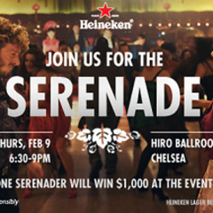 You're Invited: Celebrate The Launch Of Heineken's Serenade Facebook App With Free Heineken!