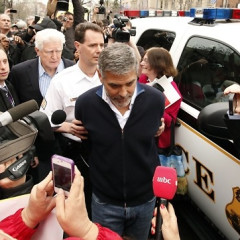 Eavesdropping In: George Clooney & Father Arrested At D.C. Protest; Spanking In School Still Legal In 19 States; Lakers Trade Derek Fisher, Luke Walton; iPad 3 Released; Prince Harry Chats Up Barefoot Girl Outside Bar