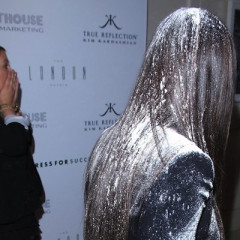 Bad Night? At Least You Didn't Get Flour Bombed At Your Own Event Like Kim Kardashian (VIDEO)