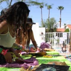 Kickin' It At The Planet Blue X FOAM Magazine Coachella Pool Party