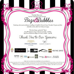 You're Invited: New York Junior League's Bags & Bubbles Silent Auction Fundraiser!