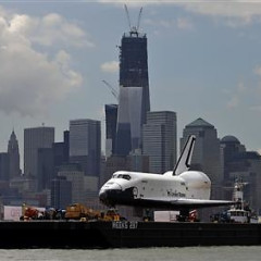 Space Shuttle Enterprise Arrives At The Intrepid Museum