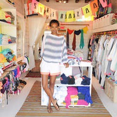 Model Citizen Liya Kebede Previews Her Pre-Fall Lemlem Collection At The Surf Lodge