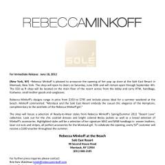 Rebecca Minkoff Pops Up At Solé East Resort In Montauk