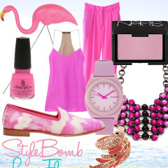 Inspired By Flamingos, StyleBomb Rocks Pink From Head To Toe
