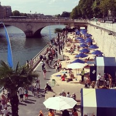 Photo Of The Day: Parisian Sunbathers Hit Up The Seine River