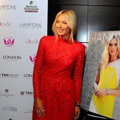 Maria Sharapova Hosts Hamptons Magazine Cover Party In NYC