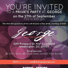 Do Not Miss: Dating In Groups Launch Party At George This Thursday