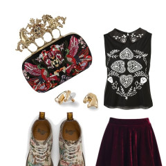 Looking Clutch: Outfits Inspired By Alexander McQueen's Knucklebox Clutch