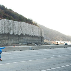 Photo Of The Day: Carmageddon Skateboarding Sesh Down The 405