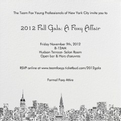 You're Invited: Team Fox Young Professionals of NYC Fall Gala: A Foxy Affair