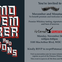 Do Not Miss: Movember At Potomac Pilates On Monday!
