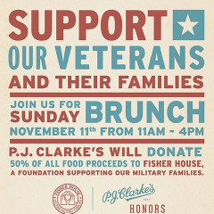 Brunch For A Good Cause At P.J. Clarke's This Veterans Day