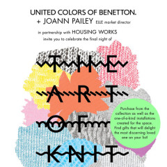 United Colors Of Benetton & ELLE Invite You To A Pop-Up Experience: The Art Of Knit