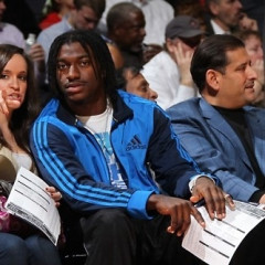 RGIII Watches The Wizards Beat Miami Heat With His Fiancée