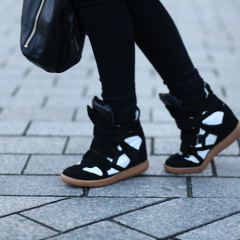 How To Rock Wedge Sneakers This Season