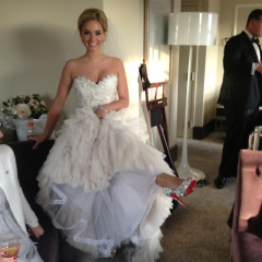 The New Mrs. Zimmerman Wore Red Soles To Her Wedding