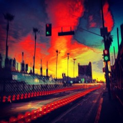 Photo Of The Day: A Technicolor L.A. Sunrise On Acid Rings In February