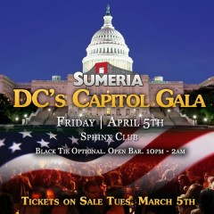 Early Bird Tickets Now On Sale: Sumeria DC Capitol Gala