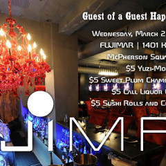 Join Us For Our Happy Hour At Fujimar On Wednesday!