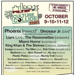 FILTER Culture Collide Lineup Revealed: Phoenix, Dinosaur Jr., The Raveonettes To Headline + More