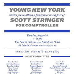 You're Invited: Young New York's Fundraiser In Support Of Scott Stringer For Comptroller