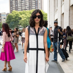 Fashion Week Street Style: Day One Outside Of BCBG