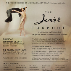 You're Invited: The 4th Annual American Ballet Theatre Junior Turnout Fundraiser