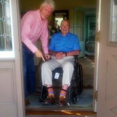 Clinton Falls For Bush's Socks