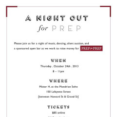 You're Invited: A Night Out For Prep