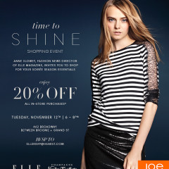 You're Invited: ELLE & Joe Fresh Time to Shine Holiday Event