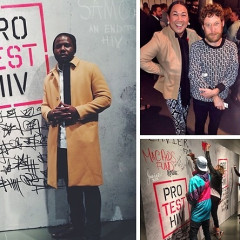 Lupe Fiasco & Dustin Yellin Support UNAIDS PROtestHIV Campaign In NYC