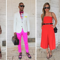 Fashion Week Street Style: Day 3 Outside Of Herve Leger & Mara Hoffman At Lincoln Center