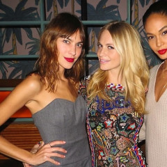 Alexa Chung & Joan Smalls Join Poppy Delevingne In Celebrating Her Solid & Striped Collaboration Launch